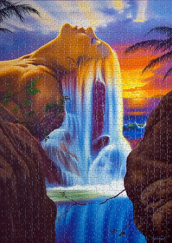 Девушка-водопад схема вышивки 6